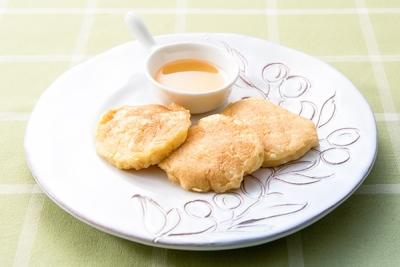 【大豆イソフラボンたっぷり豆腐のパンケーキ】